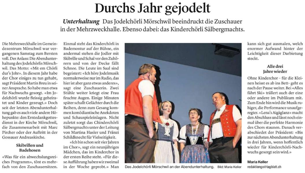 St. Galler Tagblatt - Bericht
